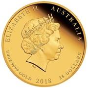 25 Dollars - Elizabeth II (4th Portrait - Royal Wedding) -  avers