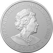 1 Dollar - Elizabeth II (6th Portrait - Redback Spider) -  avers
