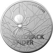 1 Dollar - Elizabeth II (6th Portrait - Redback Spider) -  revers