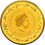 25 Dollars - Elizabeth II (4th Portrait - Year of the Dog) -  avers