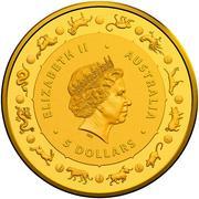 5 Dollars - Elizabeth II (4th Portrait - Year of the Dog) -  avers