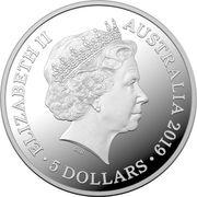 5 Dollars - Elizabeth II (4th Portrait - Centenary of the Treaty of Versailles) – avers
