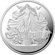 5 Dollars - Elizabeth II (4th Portrait - Centenary of the Treaty of Versailles) -  avers
