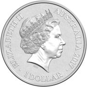 1 Dollar - Elizabeth II (4th Portrait - Alphabet Collection - Letter U - Silver Proof) – avers