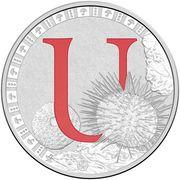 1 Dollar - Elizabeth II (4th Portrait - Alphabet Collection - Letter U - Silver Proof) – revers