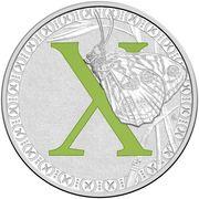 1 Dollar - Elizabeth II (4th Portrait - Alphabet Collection - Letter X - Silver Proof) -  revers