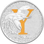 1 Dollar - Elizabeth II (4th Portrait - Alphabet Collection - Letter Y - Silver Proof) – revers