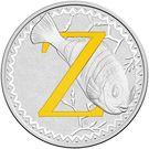 1 Dollar - Elizabeth II (4th Portrait - Alphabet Collection - Letter Z - Silver Proof) – revers