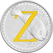 1 Dollar - Elizabeth II (4th Portrait - Alphabet Collection - Letter Z - Silver Proof) -  revers