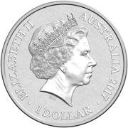 1 Dollar - Elizabeth II (4th Portrait - Alphabet Collection - Letter A - Silver Proof) -  avers