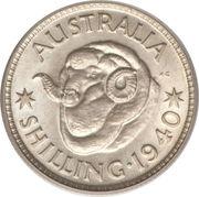 1 Shilling - George VI -  revers