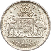 1 Florin - George VI -  revers