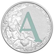 1 Dollar - Elizabeth II (4th Portrait - Alphabet Collection - Letter A - Silver Proof) -  revers