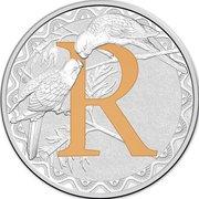 1 Dollar - Elizabeth II (4th Portrait - Alphabet Collection - Letter R - Silver Proof) -  revers
