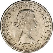 "1 shilling Elizabeth II (1ère effigie, avec ""·F:D:"") -  avers"