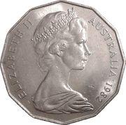 50 Cents - Elizabeth II (Jeux du Commonwealth à Brisbane) -  avers