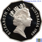 50 Cents - Elizabeth II (Captain Cook - Mater Piece In Silver Set) – avers