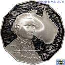 50 Cents - Elizabeth II (Captain Cook - Mater Piece In Silver Set) – revers