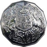 """50 cents - Elizabeth II (50 ans de la devise """"Decimal"""") -  revers"""