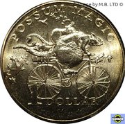 1 Dollar - Elizabeth II (Possum Magic - Racing Across Australia) -  revers