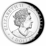 1 Dollar - Elizabeth II (6th Portrait - Australian Kangaroo) -  avers