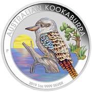1 Dollar - Elizabeth II (Australian Kookaburra; Coloured) -  avers