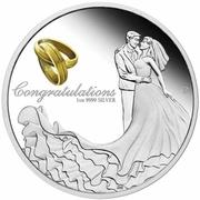 1 Dollar - Elizabeth II (Wedding) -  revers