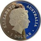 1 Dollar - Elizabeth II (4th Portrait - Australia on the Map) – avers