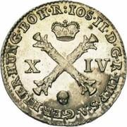 14 liards Joseph II – avers