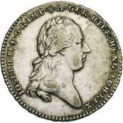½ couronne Joseph II (Type I) – avers