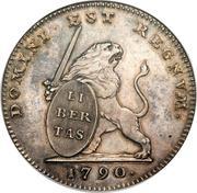 1 lion d'argent (Etats Belgiques Unis) – avers