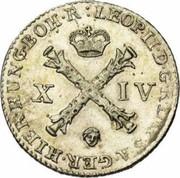 14 liards Leopold II – avers