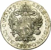 14 liards Leopold II – revers