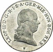 ¼ de couronne Léopold II – avers