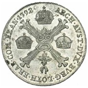 ¼ de couronne Léopold II – revers