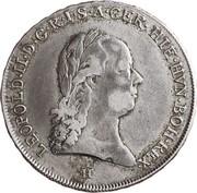 ½ couronne Léopold II – avers