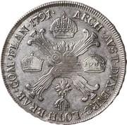 ½ couronne Léopold II – revers
