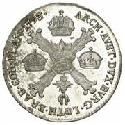 ¼ couronne François II – revers