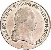 ½ couronne François II – avers