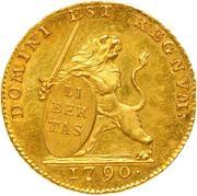 14 florins (Etats Belgique Unis) – avers