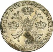 ½ couronne François I – revers