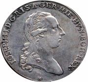1 thaler aux couronnes Joseph II (Type II) – avers