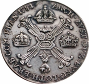 1 thaler aux couronnes Joseph II (Type II) -  avers