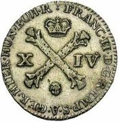 14 liards François II – avers