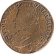 1 liard Charles VI – avers
