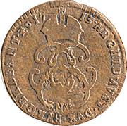 1 liard Charles VI – revers