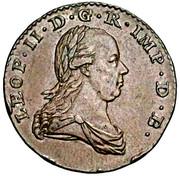 2 liards Léopold II – avers