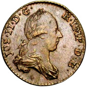 2 liards Joseph II – avers
