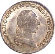 ¼ de couronne Joseph II – avers