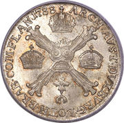 ¼ de couronne Joseph II – revers